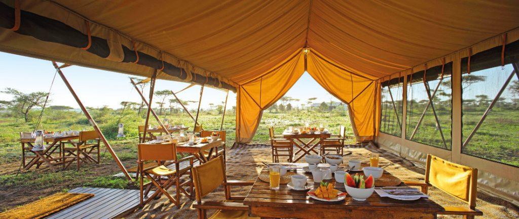 Tansania Serengeti National Park Serengeti under Canvas Speisezelt Iwanowskis Reisen - afrika.de