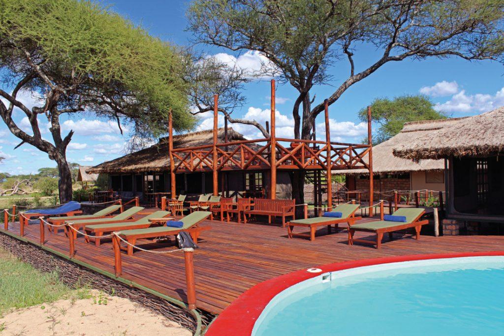Tansania Tarangire National Park Tarangire Simba Lodge Pool Iwanowskis Reisen - afrika.de