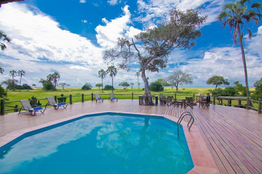 Tansania Katuma Bush Lodge Pool Iwanowskis Reisen - afrika.de