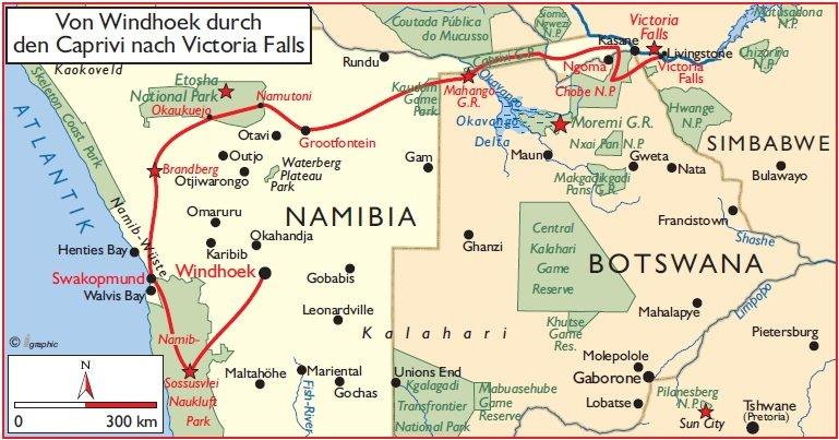 Von Windhoek nach Victoria Falls2015