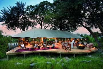 Duba Expeditions Camp Hauptbereich - afrika.de