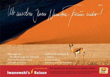 Der neue Namibia-Reisen Katalog 2015