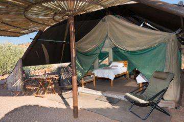 Etendeka Mountain Camp Zeltunterkunft