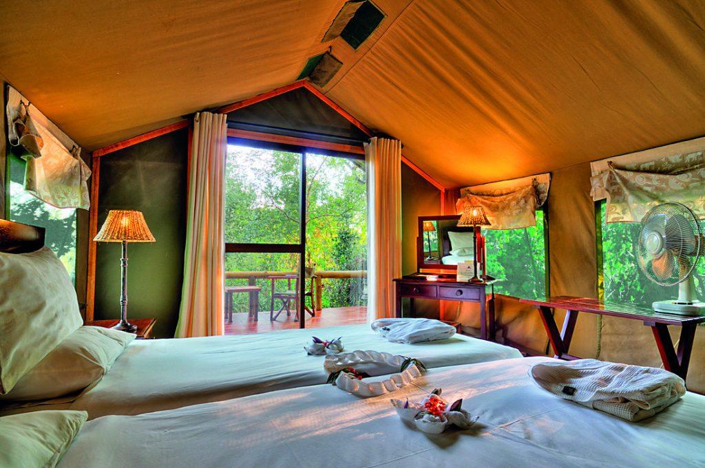 Botswana Okavango Delta Camp Okavango Zelt Unterkunft Iwanowskis Reisen - afrika.de