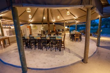 Khwai Guest House Essbereich - afrika.de Iwanowskis Individuelles Reisen