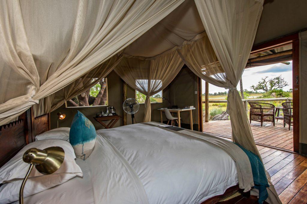 Botswana Moremi Game Reserve Wilderness Safaris Xigera Camp Safarizelt Iwanowskis Reisen - afrika.de