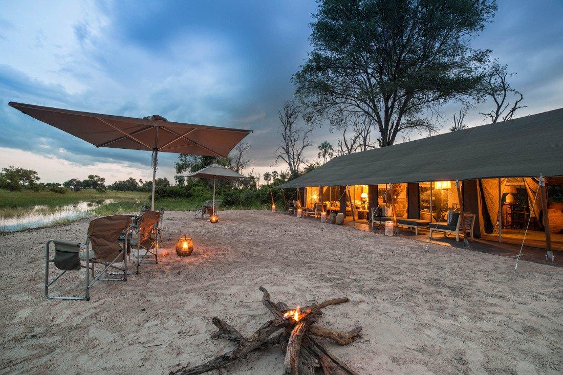 Botswana Okavango Delta Gomoti Plains Camp Iwanowskis Reisen - afrika.de