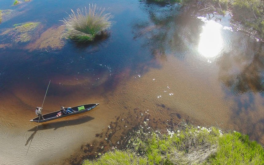 Botswana Maun Okavango Delta Mokoro Fahrt Iwanowskis Reisen - afrika.de