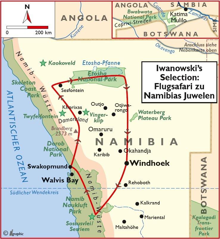 Namibia Flugsafari Luxus Iwanowskis Reisen - afrika.de