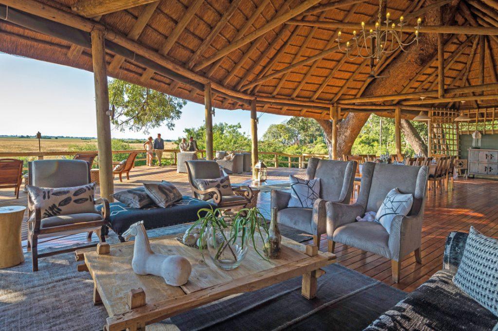 Botswana Okavango Delta Kwetsani Camp Lounge Iwanowskis Reisen - afrika.de