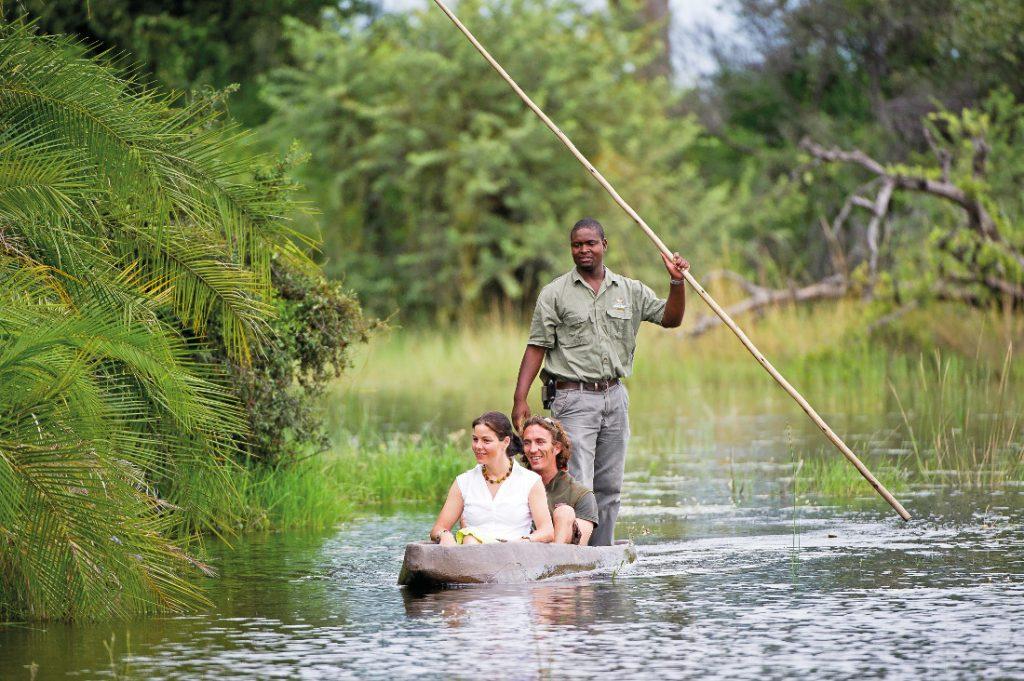 Botswana Okavango Delta Kwetsani Camp Mokorofahrt Iwanowskis Reisen - afrika.de