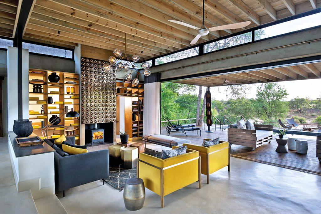 Südafrika Lion Sands Game Reserve Ivory Lodge Lounge Iwanowskis Reisen - afrika.de