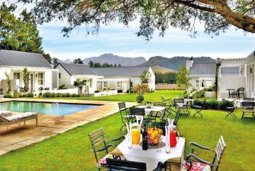 Südafrika Franschhoek Lavender Guesthouse Garten Iwanowskis Reisen - afrika.de