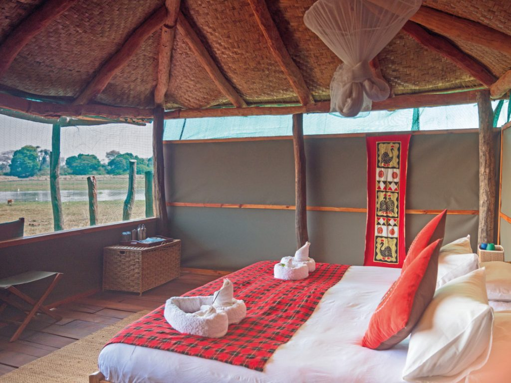 Sambia Kafue National Park Musekese Camp Zeltunterkunft Iwanowskis Reisen - afrika.de
