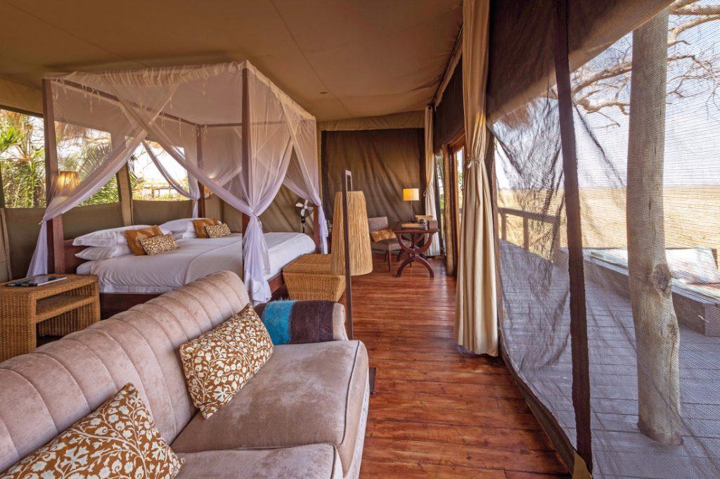 Sambia Kafue National Park Shumba Bush Camp Zeltunterkunft Iwanowskis Reisen - afrika.de