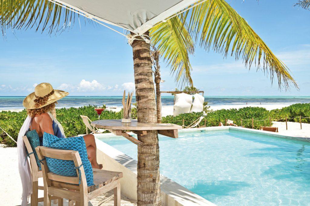 Tansania Sansibar Sharazad Boutique Hotel Pool Iwanowskis Reisen - afrika.de