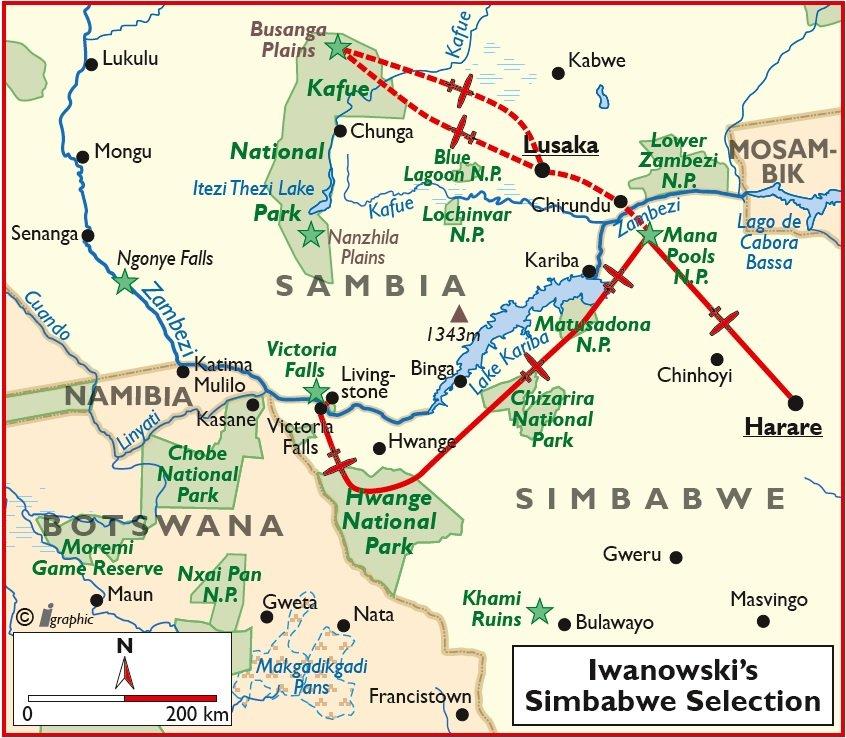 Simbabwe Selection Luxusreise Flugsafari Victoria Falls Hwange Harare Iwanowskis Reisen - afrika.de