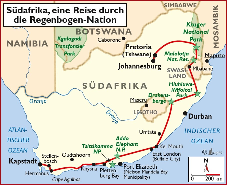 Südafrika Regenbogen Nation Safari Gruppenreise Sunway Safaris Iwanowskis Reisen - afrika.de