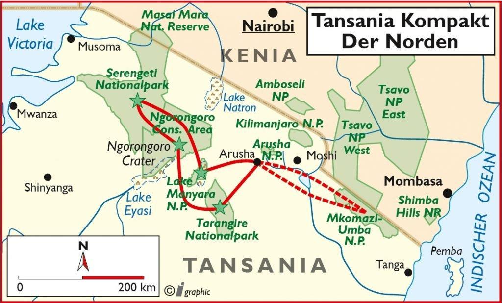 Tansania kompakt Norden Rundreise Kleingruppe Safari Iwanowskis Reisen - afrika.de