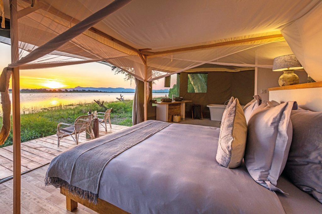 Malawi Liwonde National Park Kuthengo Camp Safarizelt Iwanowskis Reisen - afrika.de