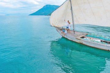 Malawi Lake Malawi Pumulani Dhau Ausfahrt Segelboot Iwanowskis Reisen - afrika.de