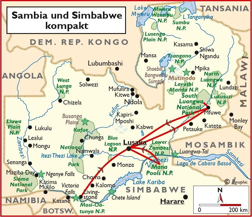 Sambia Simbabwe kompakt Safari Rundreise Lusaka Iwanowskis Reisen - afrika.de