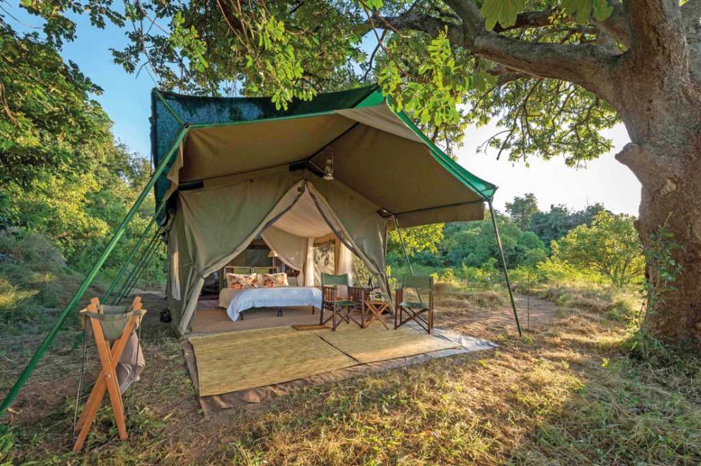 Simbabwe Mana Pools National Park Johns Camp Zeltunterkunft Iwanowskis Reisen - afrika.de