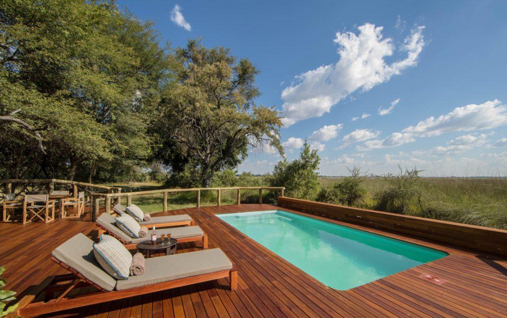 Botswana Moremi Game Reserve Camp Moremi Pool Iwanowskis Reisen - afrika.de