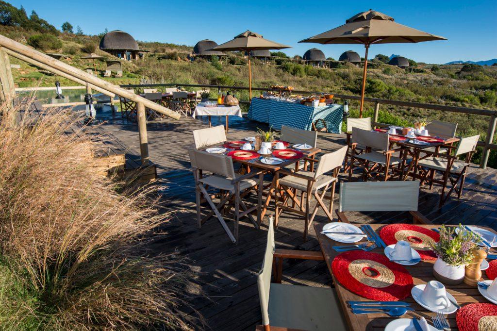 Südafrika George Gondwana Game Reserve Kwena Lodge Terrasse Iwanowskis Reisen - afrika.de