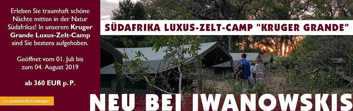 Kruger Grande Luxus Zeltcamp - Iwanowskis Reisen