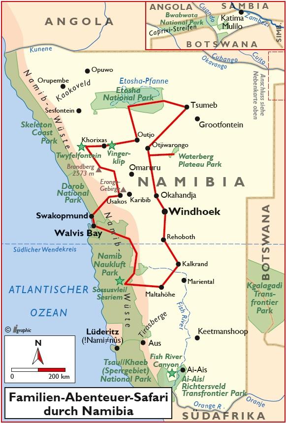 Namibia Familien Safari Abenteuer Übersicht Iwanowskis Reisen - afrika.de