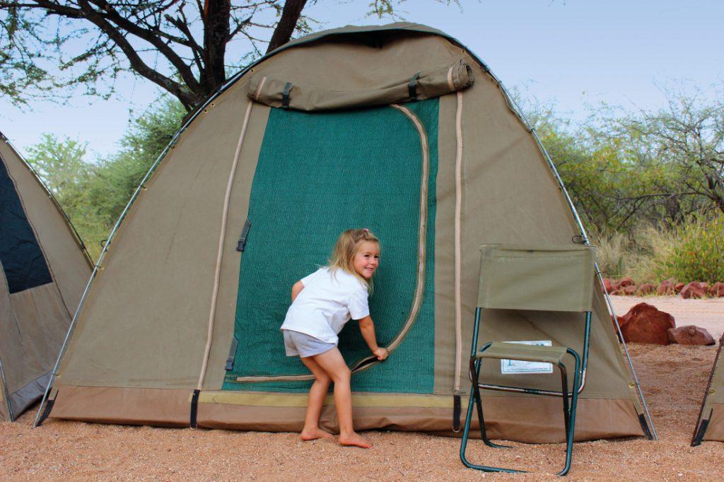 Namibia Familiensafari Zeltunterkunft Iwanowskis Reisen - afrika.de