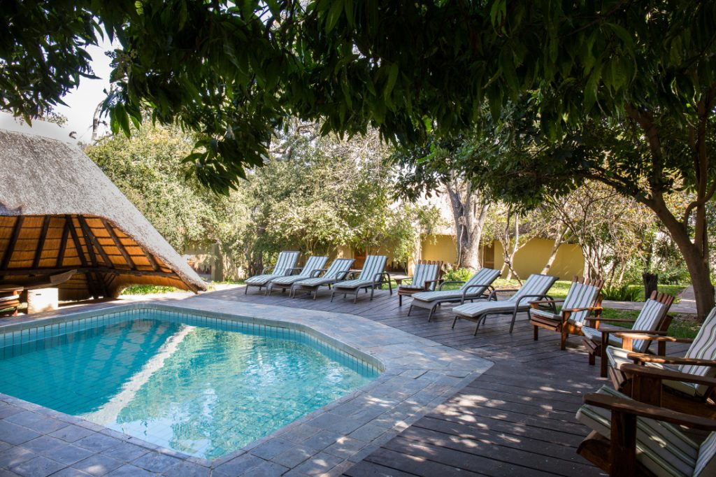 Namibia Caprivi Namushasha River Lodge Pool Iwanowskis Reisen - afrika.de