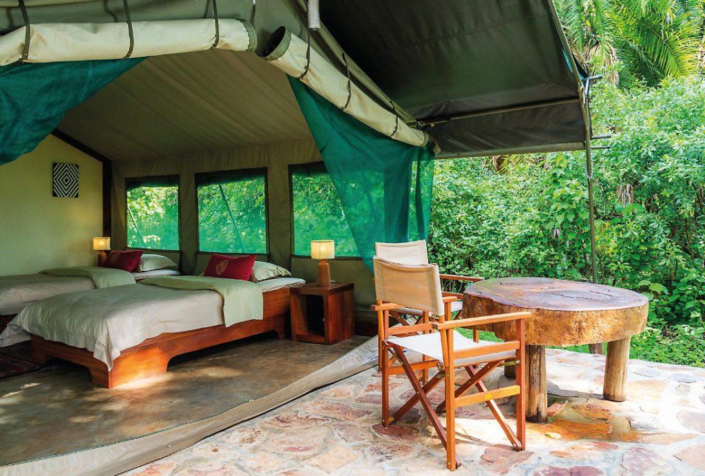 Ruanda Akagera National Park Ruzizi Tented Lodge Safarizelt Iwanowskis Reisen - afrika.de