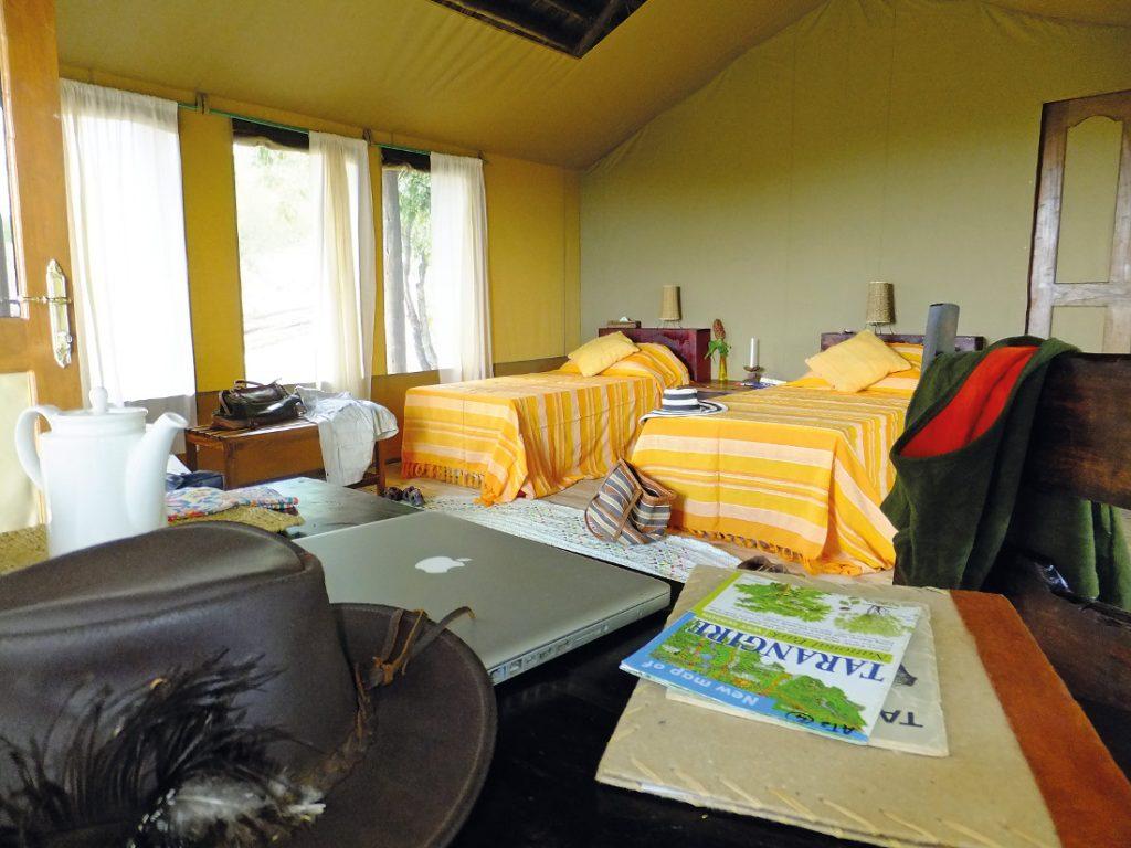 Tansania Tarangire NP Sangaiwe Tented Camp Unterkunft Iwanowskis Reisen - afrika.de
