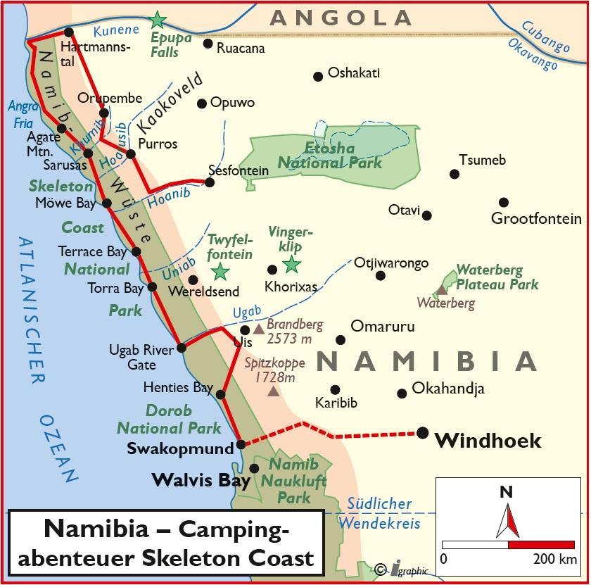 Namibia Selbstfahrertour Skeleton Coast Iwanowskis Reisen - afrika.de