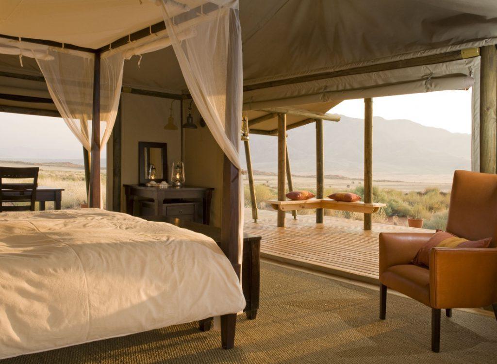 Namibia NamibRand Wolwedans Dune Camp Zeltunterkunft Iwanowskis Reisen - afrika.de