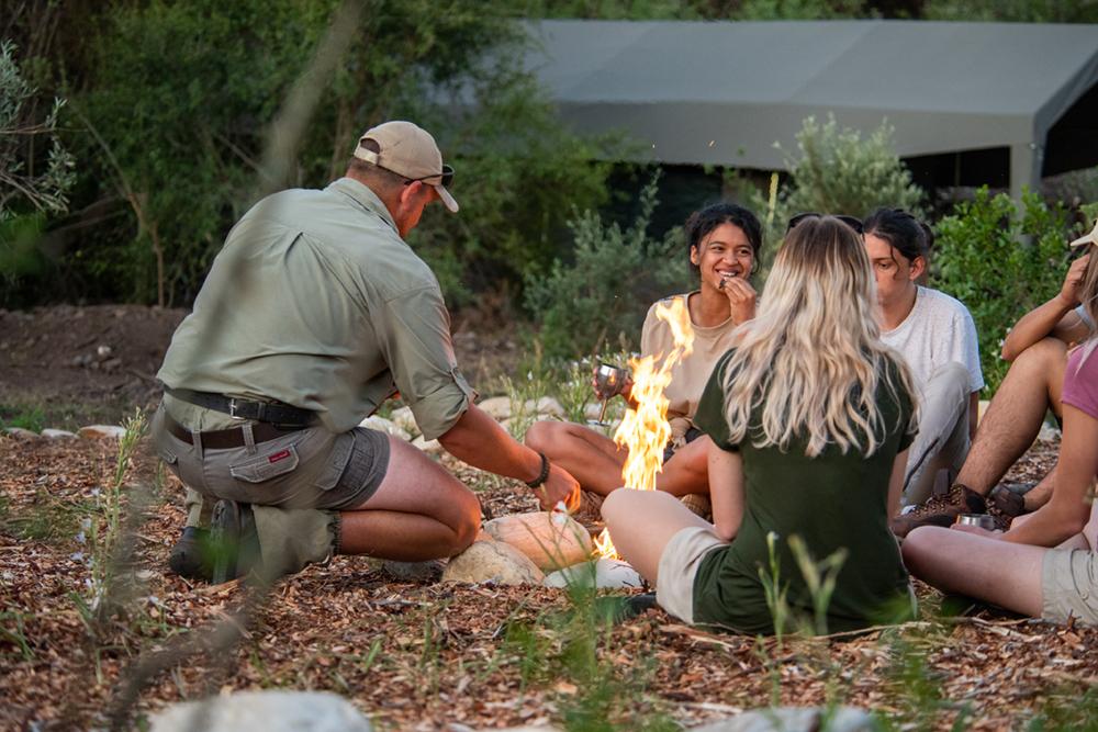 Südafrika Western Cape George Gondwana Game Reserve Pioneer Trail Wanderung Lagerfeuer Iwanowskis Reisen - afrika.de