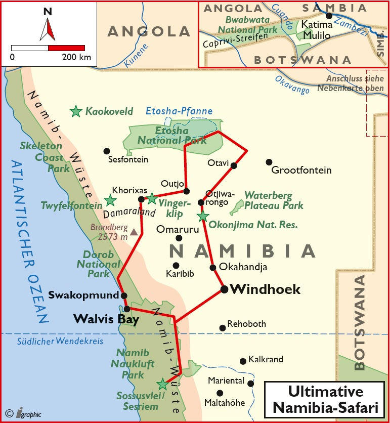 Namibia Ultimative Safari Kleingruppe Iwanowskis Reisen - afrika.de