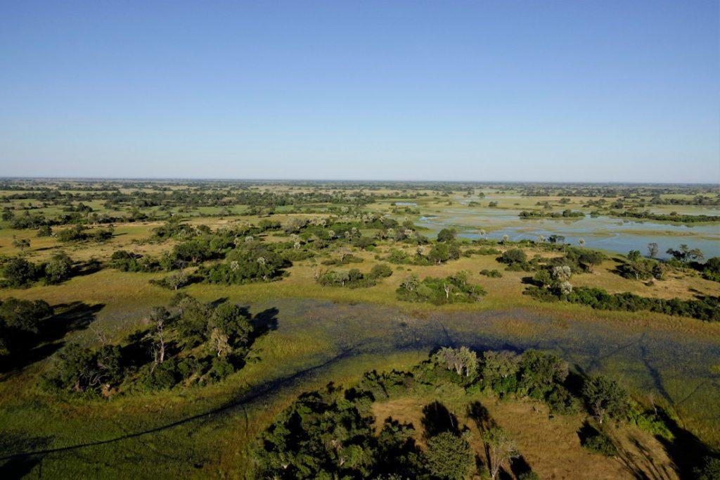 Botswana Okavango Delta Setari Camp Luftaufnahme Iwanowskis Reisen - afrika.de