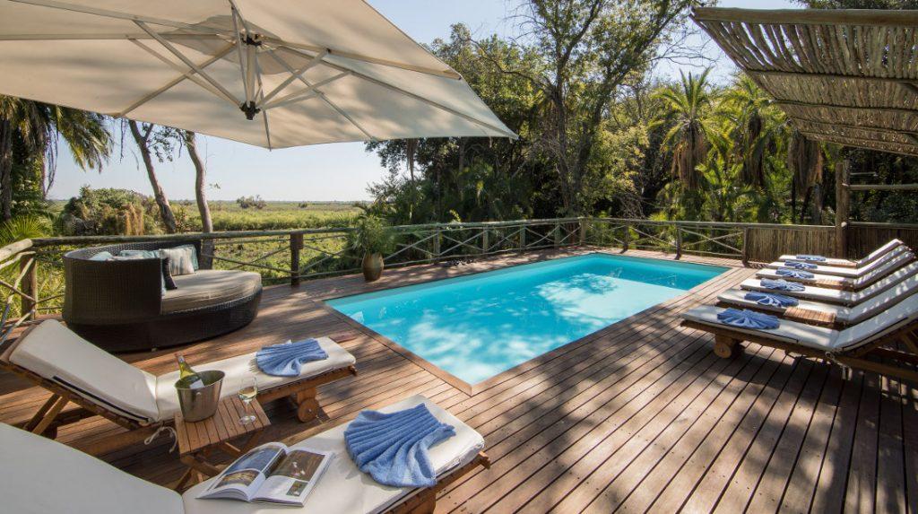 Botswana Okavango Delta Setari Camp Pool Iwanowskis Reisen - afrika.de