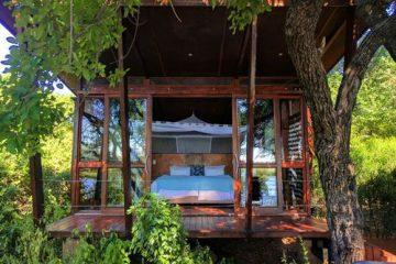 Namibia Caprivi Riverdance Lodge Bungalow Iwanowskis Reisen - afrika.de