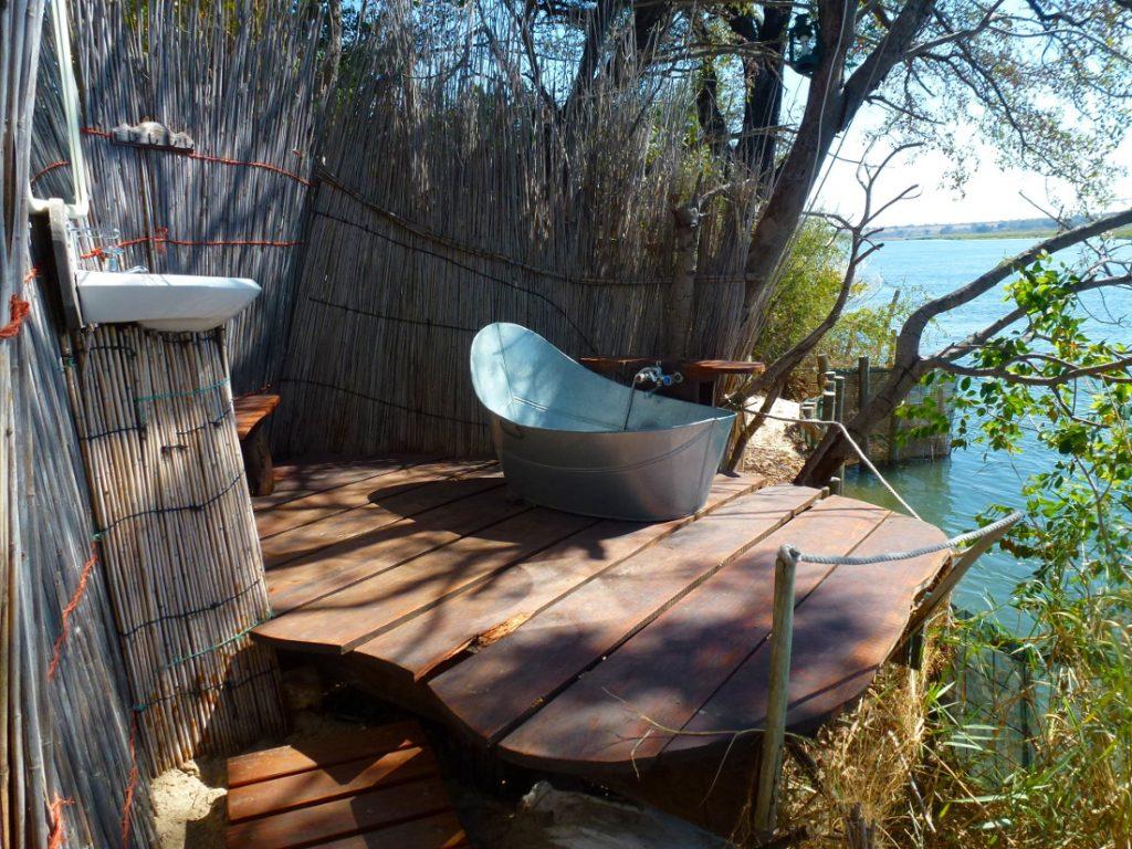 Namibia Divundu Popa Falls Ngepi Camp Bad Iwanowskis Reisen - afrika.de