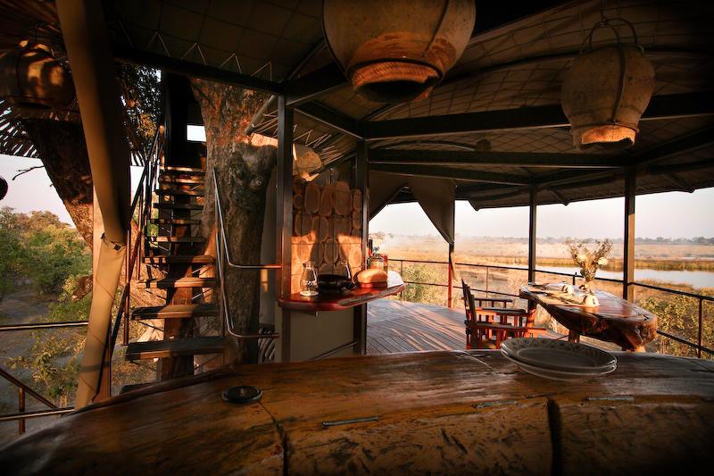 Namibia Caprivi Jackalberry Tented Camp Bar Iwanowskis Reisen - afrika.de