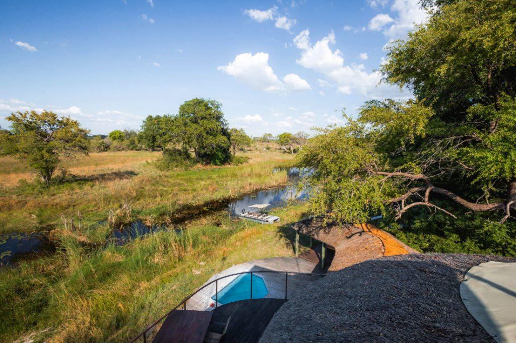 Namibia Caprivi Jackalberry Tented Camp Ausblick Iwanowskis Reisen - afrika.de
