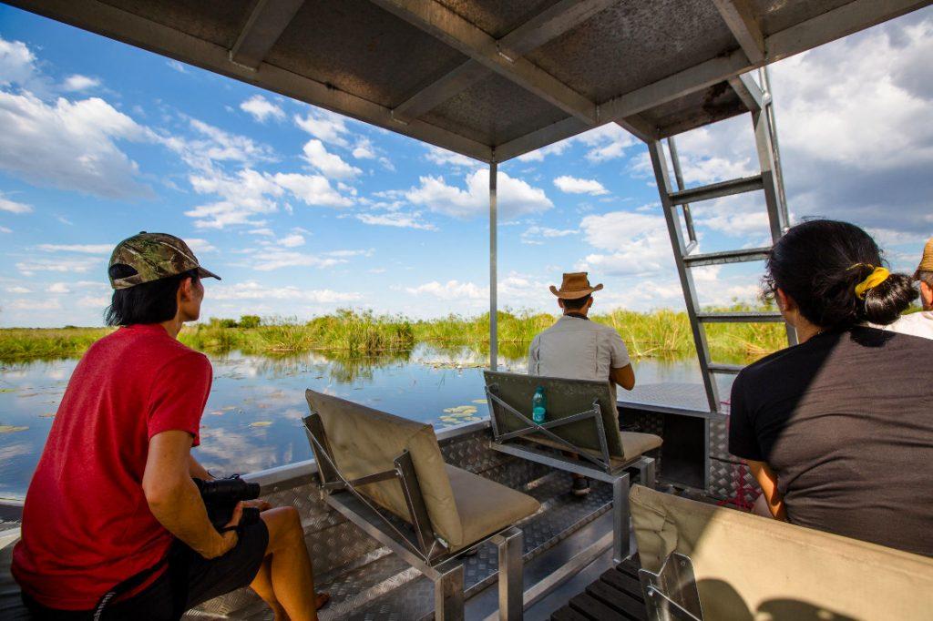 Namibia Caprivi Jackalberry Tented Camp Bootsfahrt Iwanowskis Reisen - afrika.de