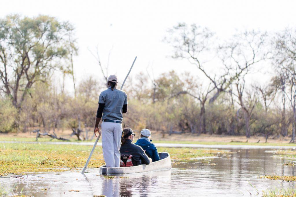 Botswana Okavango Delta Mokoro Einbaum Iwanowskis Reisen - afrika.de
