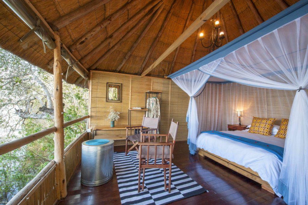 Sambia Livingstone Chundukwa River Lodge Chalet Iwanowskis Reisen - afrika.de