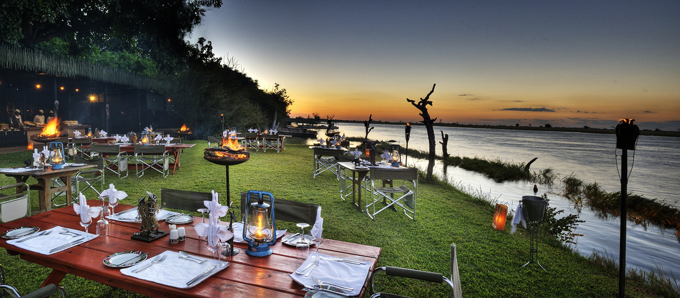 Chobe Game Lodge Boma area