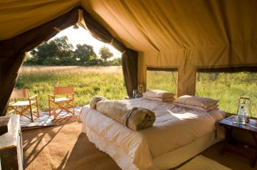 Botswana Flugsafari Chobe Under Canvas Camp - afrika.de